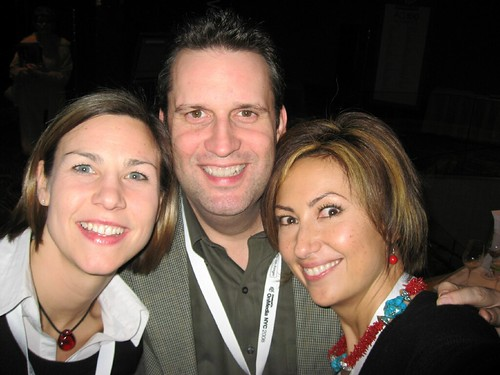 Tim Schigel (ShareThis), Andrea Heuer and Kathy Johnson (Consort Partners)