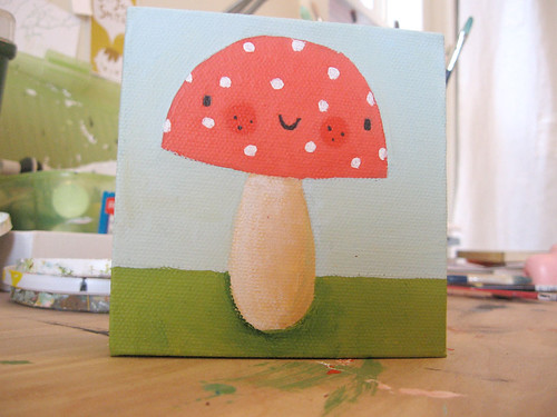 happy mushroom / Lori Joy Smith