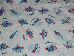 Vintage Kids Space Fabric