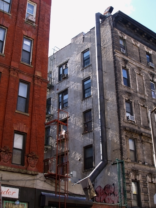 Kenmare Street buildings, NYC, Manhattan