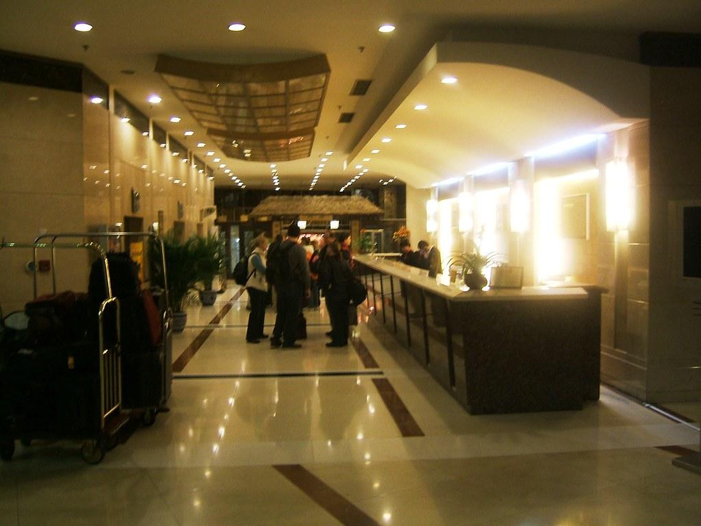2008-01-20 005 Leaving Beijing hotel Poly Plaza