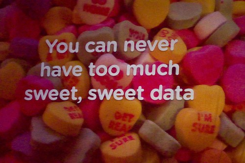 You can never have too much sweet, sweet data