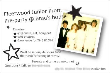 Prom party invite