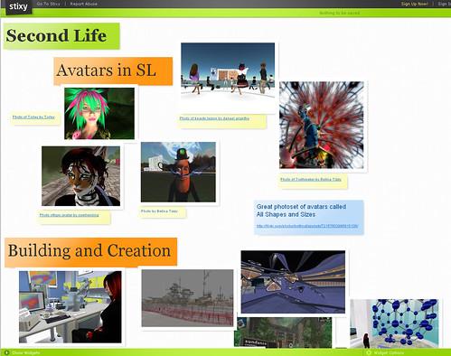 Second Life Presentation Using Stixy