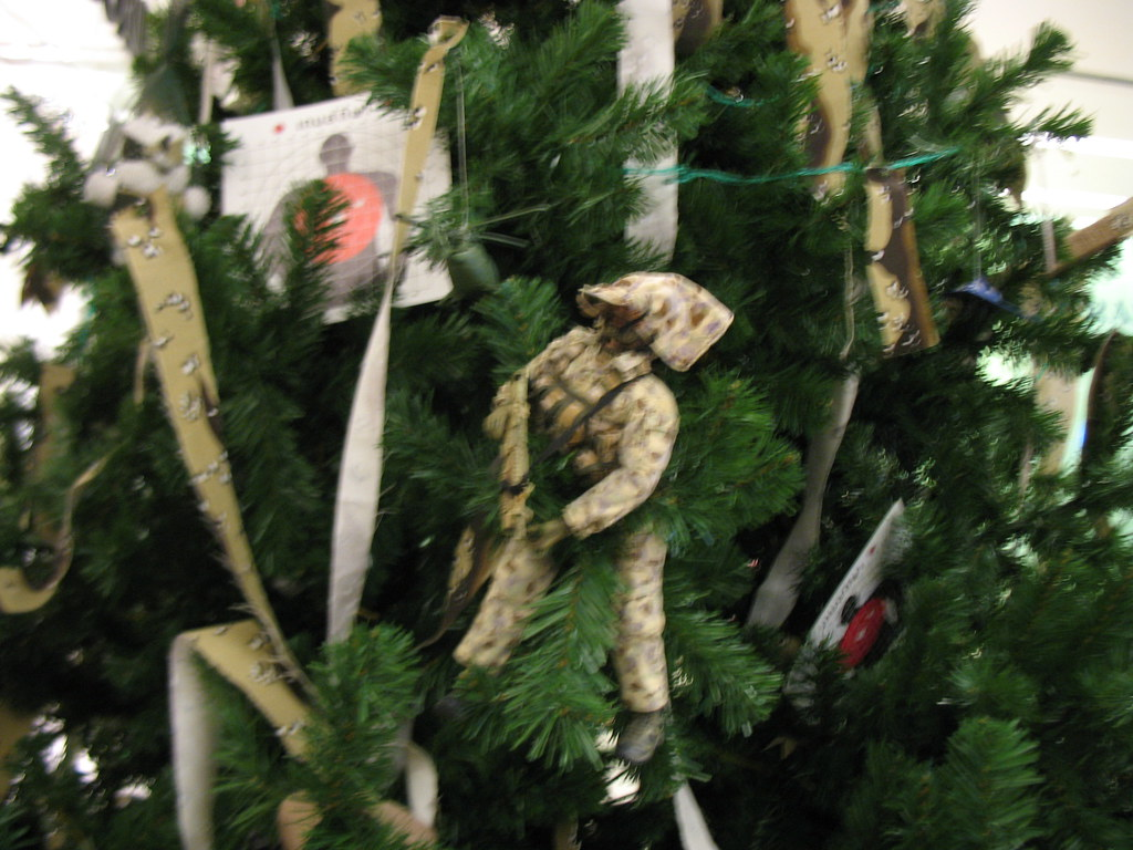 Army themed Christmas tree