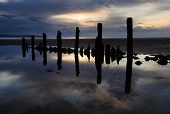 Fading Light (BarneyF) Tags: sky reflection beach silhouette wirral breakwater merseyside caldy riverdee deeestuary aplusphoto