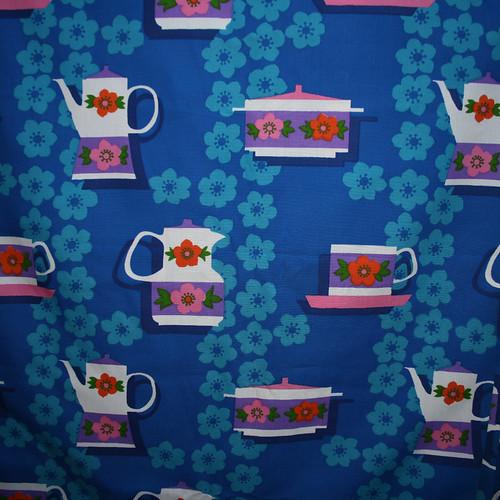 1970's Teapot Vintage Fabric