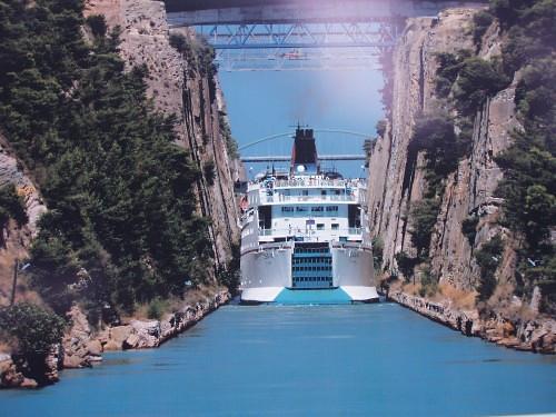 Canal de Coorinto, Peloponeso, Grecia