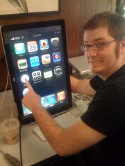 Eric's huge iphone