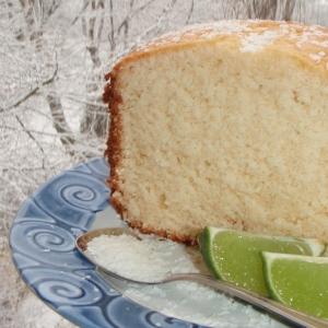 cake au citron vert et à la noix de coco