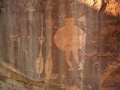 Navajo Petroglyph-Crow Canyon-Big Man Panel (glyphwalker) Tags: newmexico navajo petroglyphs navajorockart