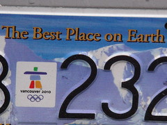 Licence Plate for Morons Only (knightbefore_99) Tags: vancouver place earth propaganda plate best olympic licence 2010 icbc nolympics overbudget mygearandme