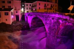 deep purple (conte_granata) Tags: dora ponte alluvione viola notte ivrea piena vecchio notturno eporedia baltea