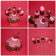 For Cupcakes lovers - Pincushion (Felt) and 5 Sewing Pins (Polymer Clay) (yifatiii) Tags: flower ceramica cake cherry miniature cupcakes pc pin sweet handmade chocolate sewing cream mini sew felt polymerclay fimo biscuit cupcake gift present icing sculpey bolo pincushion etsy muffin pino topper kleiner dollhouse gateau kuchen kato gteau plastica premo polyclay ceramicaplastica pastesintetiche coldporcelain diminuto prosculpt kupkake arcillapolimerica arcillaspolimericas cuttlebug arcillaspolimricas porcelanaenfro porcelanaenfrio sewingpinstopper