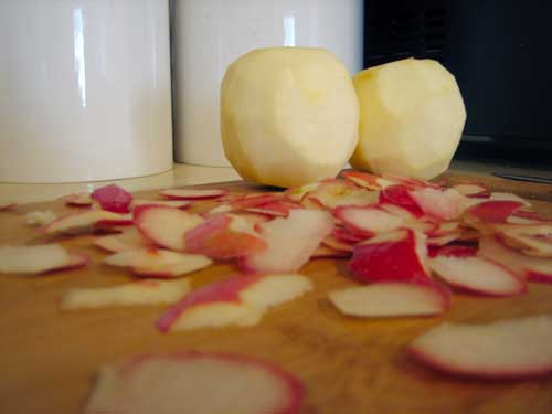 apples, peeled