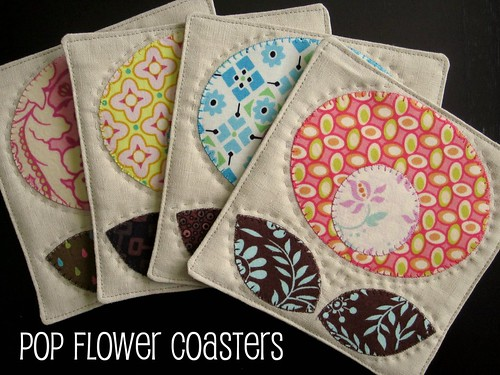 Pop Flower Coasters Tutorial