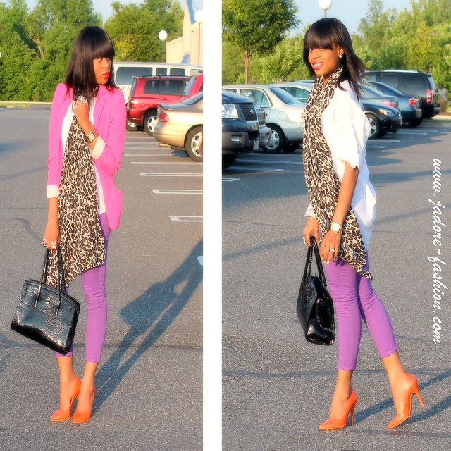 Purple & Fuschia by www.jadore-fashion.com