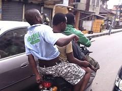 Okada - 4 Riders 1 Motorcycle Lagos Nigeria (Jujufilms) Tags: beach island films johnson victoria lenny lagos nigeria juju okada ikoyi kazeem abuja kuramo seriki nonye
