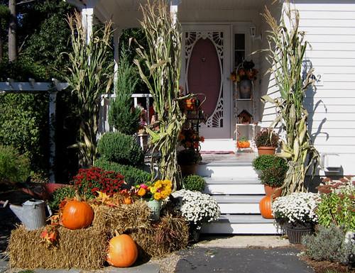 front porch autumn