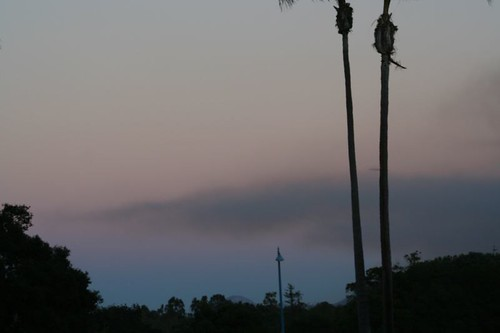 Smoke hangs over San Diego