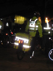 Cycle ambulance at Critical Mass