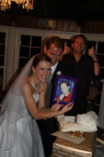 Lance's wedding gift :) by Matt & Kristy. Matt and Kristy opening Lance's
