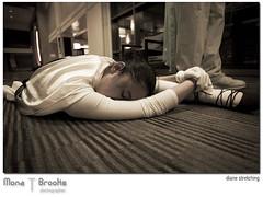 Stretch (SFMONA) Tags: sanfrancisco white pov ground dancer diane stretching flexible superhearts