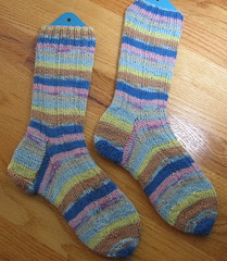 Madder Ribbed Sock by Nancy Bush
