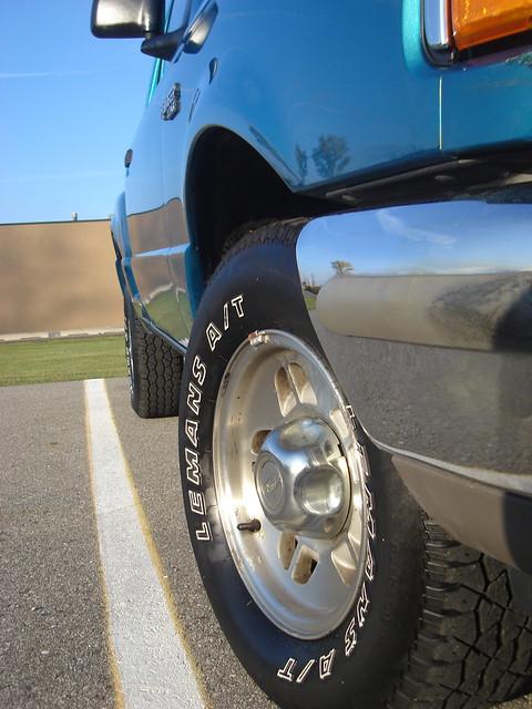 ford ranger side parking wheels spot line tires bumper fender