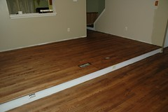 Sanded and Stained (fumoffu) Tags: stained redoak homeimprovement hardwood