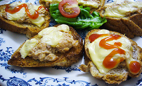 tuna cheese melts