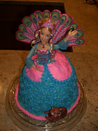 Barbie as the Island Princess Birthday Cake.