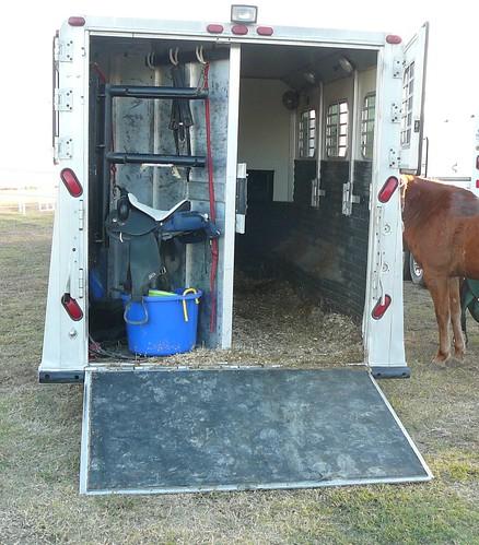 Ramp horse trailer