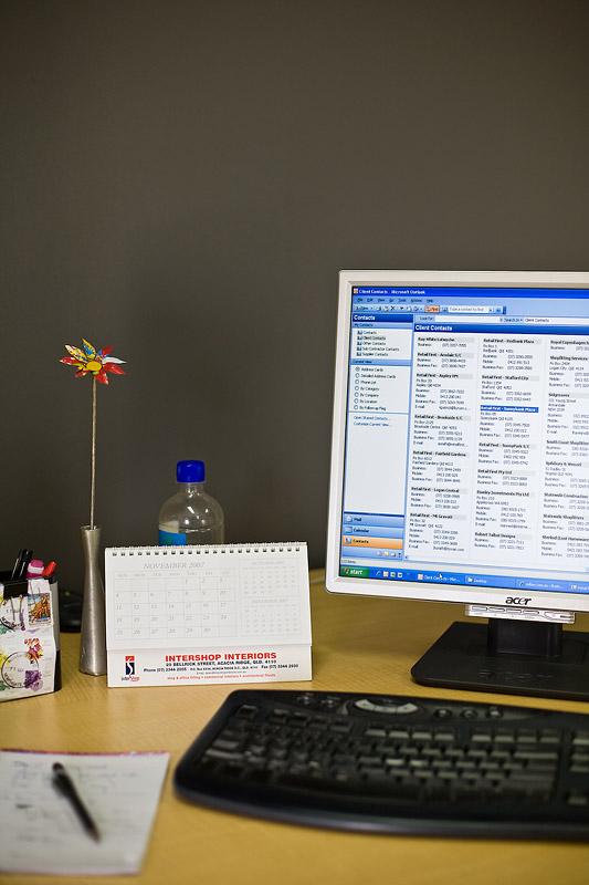 My desk @ work
