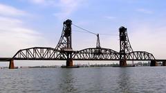 BRIDGE K072: Lehigh Valley Railroad Lift Bridge over Newark Bay, New Jersey (jag9889) Tags: bridge puente newjersey google kayak crossing essexcounty nj bridges ponte kayaking pont brücke paddling waterway 2007 hudsoncounty newarkbay y2007 jag9889 bridgesbykayak k072 kayakbridgesset