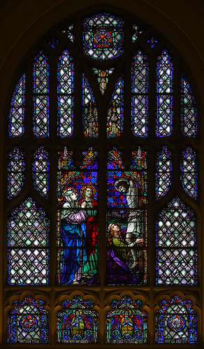 Saint Elizabeth, Mother of John the Baptist Roman Catholic Church in Saint Louis, Missouri, USA - stained glass window 1