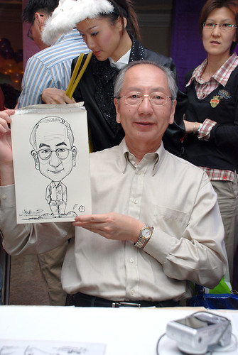Caricature Singapore Swimming Club NYE 9