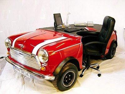Mini Morris Office Desk - red