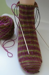 Second Charade Sock almost done