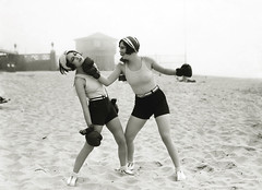 dorothy and joan beach knockout (carbonated) Tags: 1920s ladies beach vintage sand exercise famous boxing beachy 1927 joancrawford dorothysebastian margaretchute