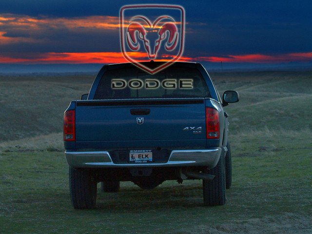 sunset truck automobile 2006 dodge ram 1500 hdr