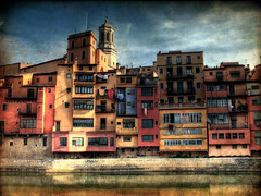 By the River (ToniVC) Tags: old city houses windows urban colors canon river bravo europa europe catalonia girona powershot catalunya aged textured gerona onyar magicdonkey tonemapped fivestarsgallery artlibre a640 tonivc