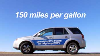 150 mpg plug in hybrid SUV from AFS trinity