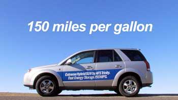 150 mpg plug in hybrid SUV from AFS trinity