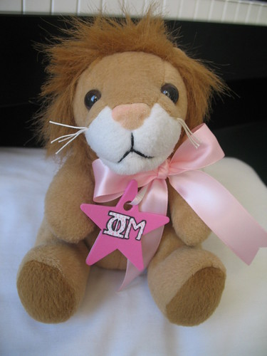 Phi Mu Lion with Necklace