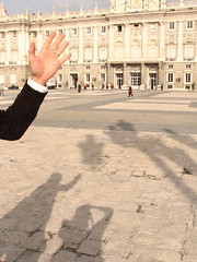 Saying Hi in the Center of the Palacio Real, Madrid