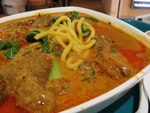 Curry beef noodles