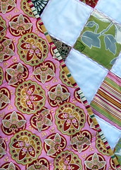 Lotus Patchwork Quilt with backside and binding