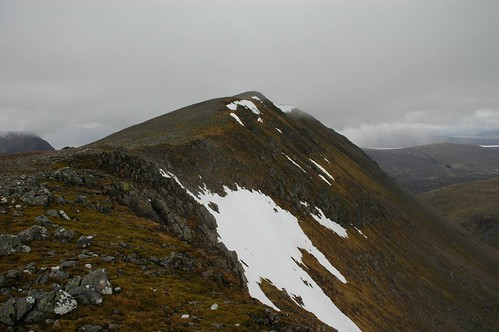 Looking left along ridge at the top Criese