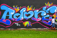 Not drawing, just adoring. (Cathleen Tarawhiti) Tags: family people graffiti colours child tag tagging inspiring cathleen tarawhiti avision